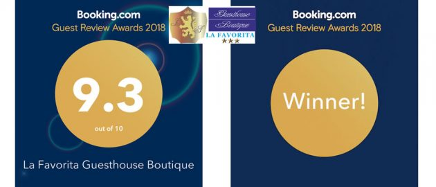 Booking award 2018 La Favorita hotel - winner-2018