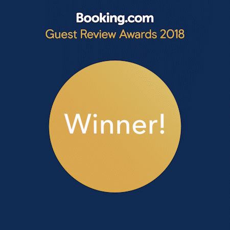 Booking award 2018 La Favorita hotel - winner